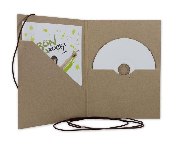 Neu im Shop: CD- und DVD-Hülle mit Tasche für Fotos, Booklets oder Einleger und Schlitz für Disc. #Kraftkarton #cardboard #cd #dvd #sleeve