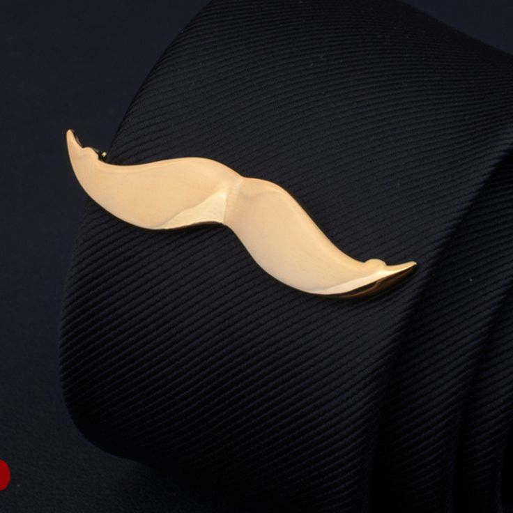 Men Silver Gold Mustache Shape Tie Clip Stainless Steel Plain Clasp Bars Pins Clips Suit Accessories at Banggood