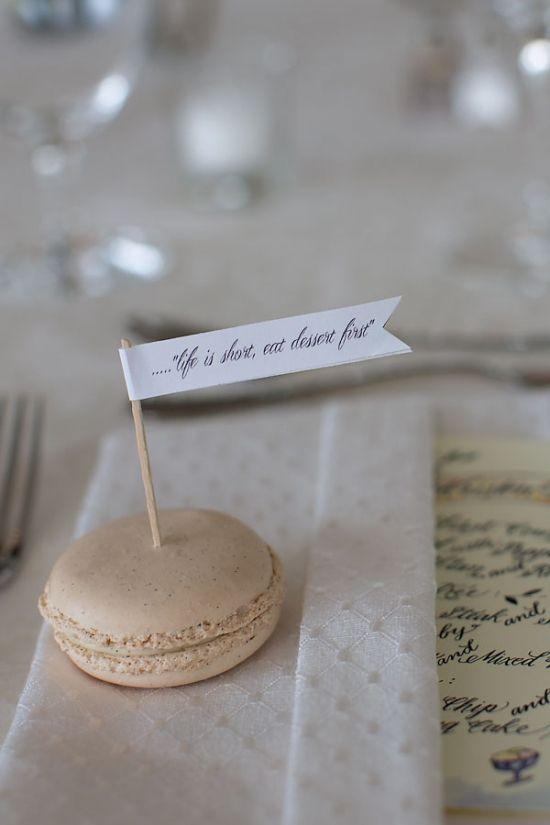 Macaron Segnaposto (Fonte: Wedding Chicks)
