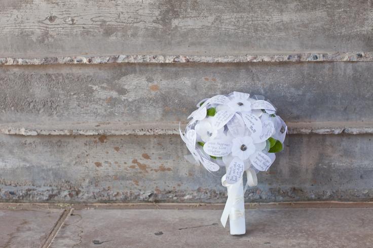 DIY Rehearsal Bouquet of Wishes #bridalshower #wedding #diy #rehearsal #bouquet