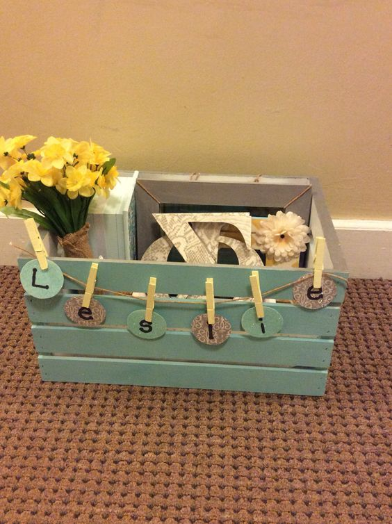 Crate for big little reveal #big #little #sorority #diy #crate: