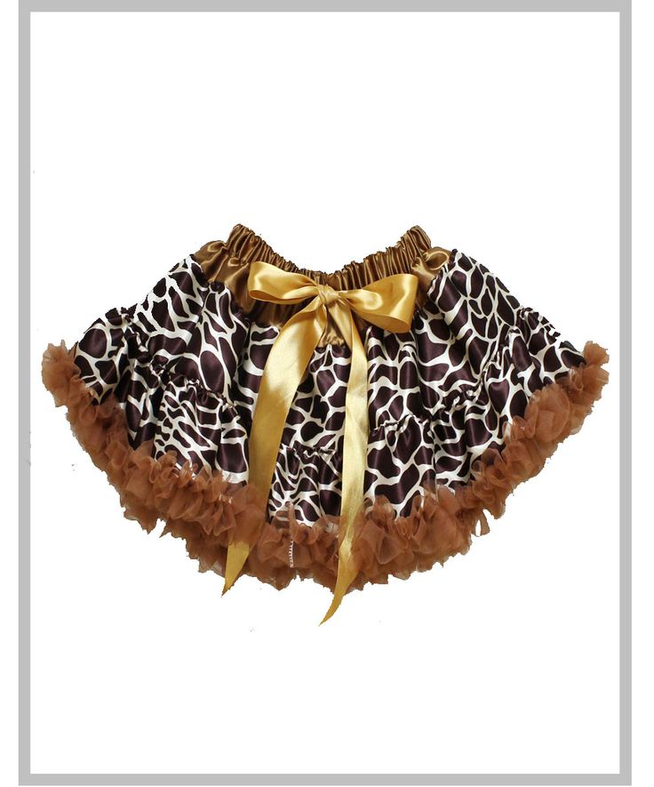 Brown Giraffe Bow Pettiskirt
