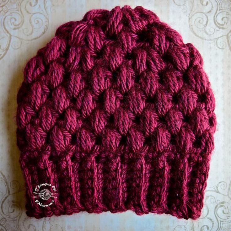 chunky puff stitch crochet beanie pattern