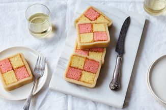 """I grew up on British cakes and treats thanks to my mum. We had everything from tea cakes and digestive biscuits to Yorkshire puddings and toad in the hole. One of my favorite cakes was a Battenberg Cake—not only was it pretty to look at, the homemade marzipan was a total treat.  Enjoy this cake with a big mug of tea or coffee in the afternoon or as a sweet treat after dinner.   Featured in: <a href=""""https://food52.com/blog/20733"""">Battenberg Cake Looks ..."""
