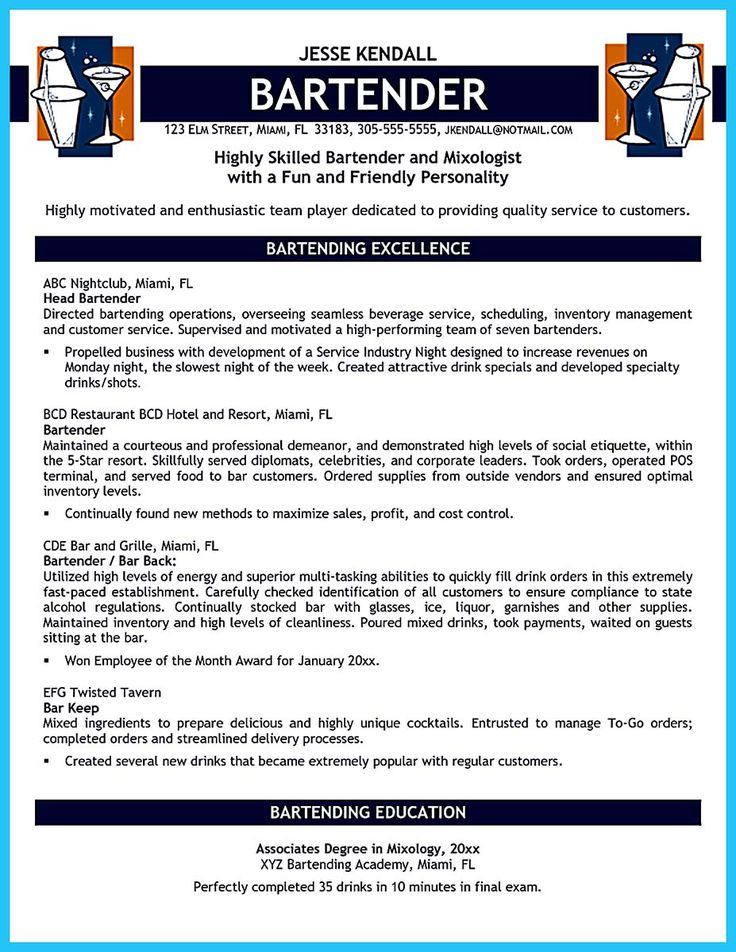 resume templates word templates free sample resume resume format resume examples resume ideas bartenders you must job description