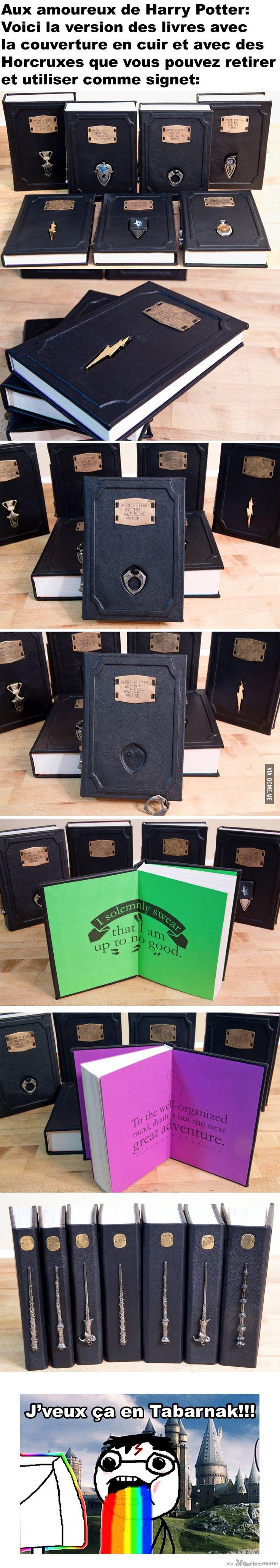 Livres de Harry Potter en cuir avec Horcruxes détachables qui s'utilisent comme signet – Québec Meme +