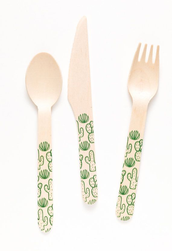Cactus Forks Spoons Or Knives by SucreShop