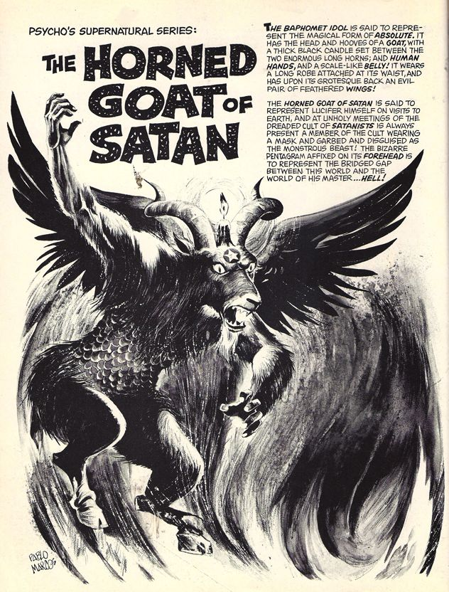 Horned Goat Of Satan | Creepy | Pinterest