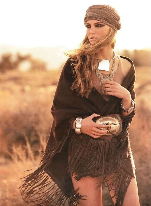 Cat-Eyed Cowgirls - The Ymre Stiekema Vogue Germany Shoot Features Fringed Style (GALLERY)