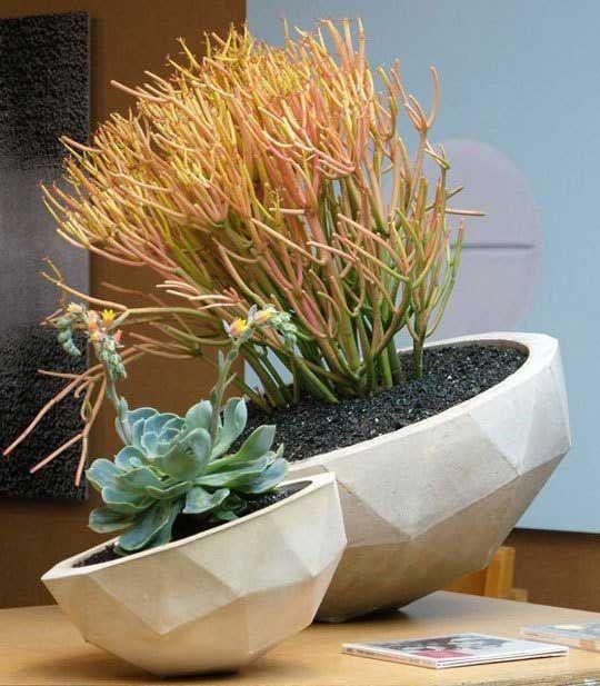 Pflanzenschalen aus Beton