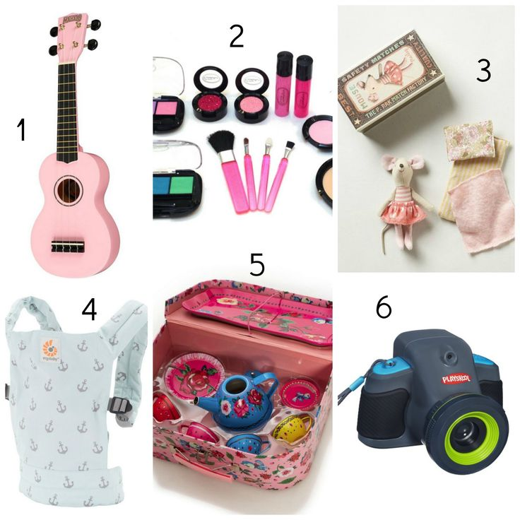 Gift Guide For Little Girls: 3-5 Year Olds Pink Ukulele, little mouse, camera...  Also My First Little House books...