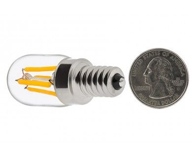 T22 LED Filament Bulb - 20 Watt Equivalent Candelabra LED Vintage Light Bulb - Radio Style - Dimmable