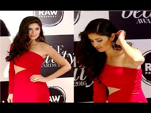 WATCH Katrina Kaif gorgeous in red one piece at Vogue Beauty Awards 2016.  #katrinakaif #vogue #bollywoodnewsvilla