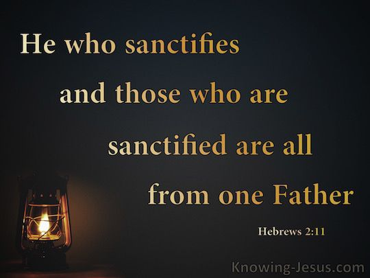 Hebrews 2-11 The Sanctifier And Sanctified Are Of One Father