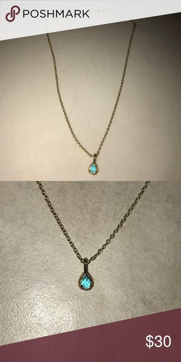 "Kendra Scott December Birth Stone Necklace Worn once, 15"" chain with December birth stone Kendra Scott Jewelry Necklaces"