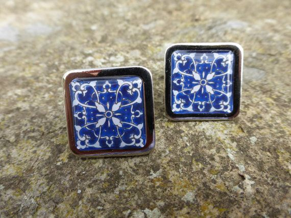 Stunning Blue 'Hearts and Flowers' Spanish by DragonTreeStudio