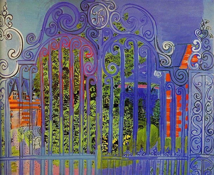 Raoul DUFY - La grille - 1930 - huile sur toile - 130x160 -