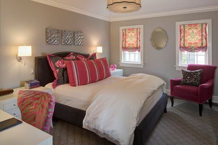 Soft Grey Theme Color and Wood Bed Furniture in Small Romantic Bedroom Decorating Design Ideas
