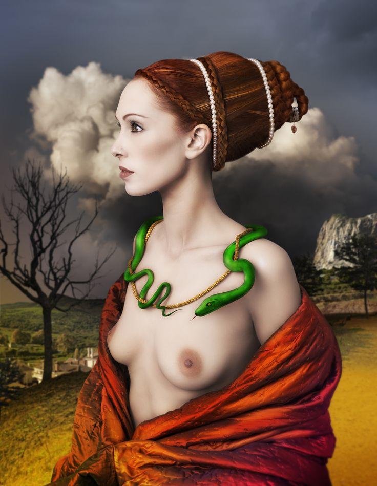 Galerie-Klose Mariano-Vargas lady portrait wiyh snake Revista Joyce
