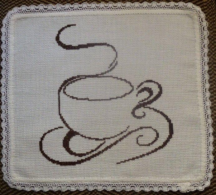 Вишиті кавові серветки до ранкової кави на подарунок. Перша.