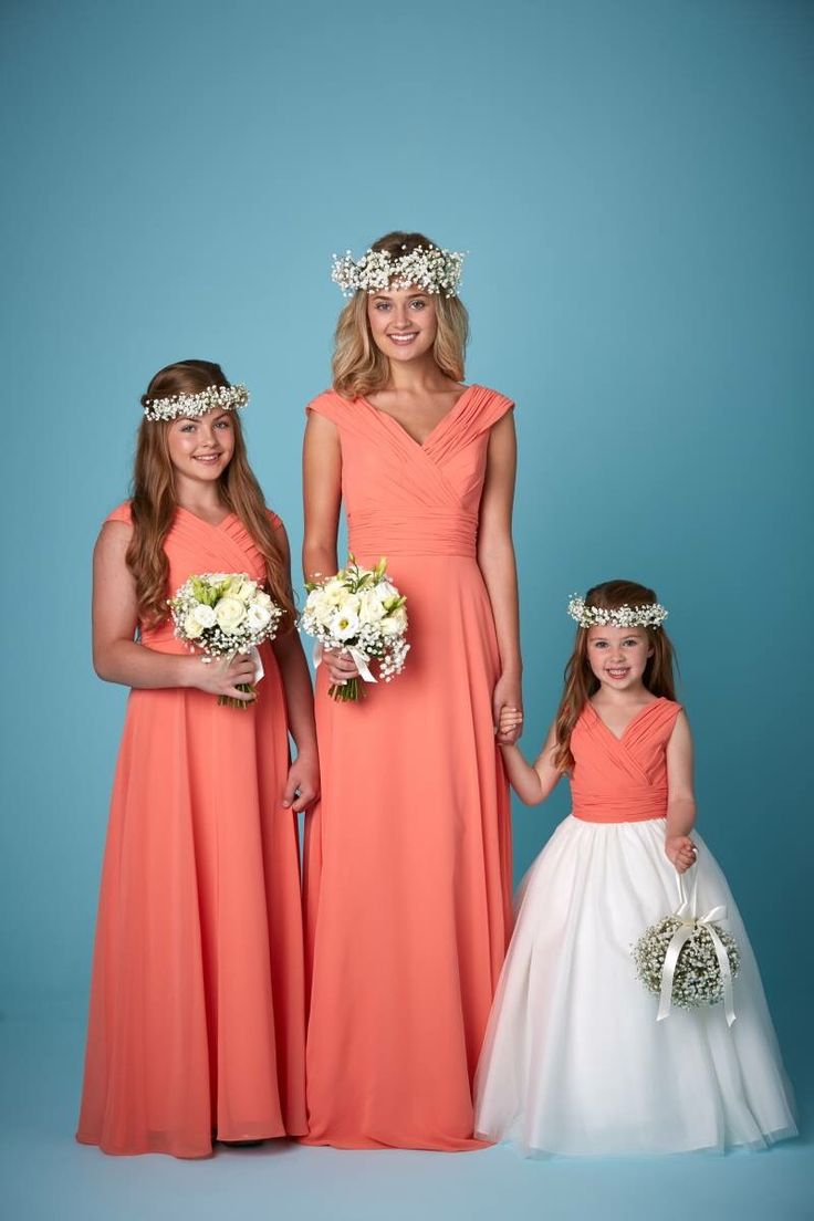 C Bridesmaid And Flower Dresses Available In A Range Of Colours