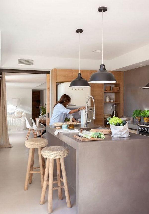 Barras de cocina ideas de muebles funcionales para for Barras e islas para cocinas