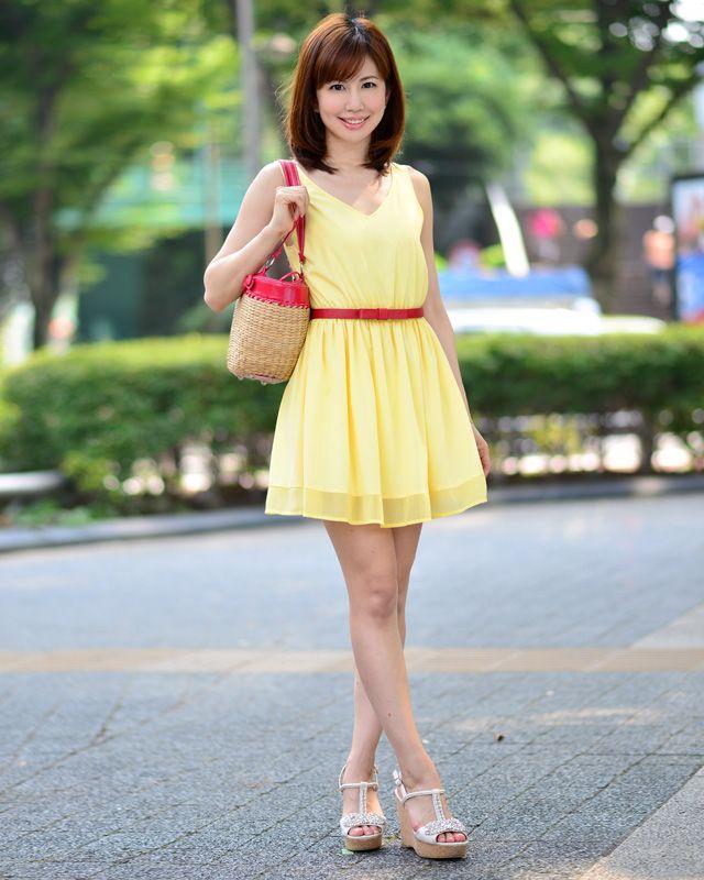 谷口真紀さん │ Spiral Girl(スパイラルガール)黄色ワンピース