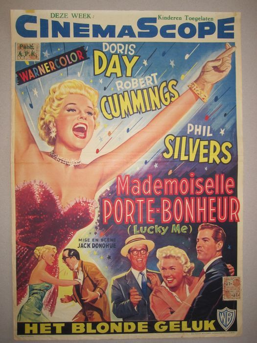Belgian Poster Lucky Me Doris Day