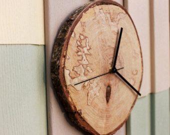 Natürliche Birke Holz Wanduhr - Natural Home Dekor Live Rand Holz Uhr hergestellt aus Gestockte Birke, Mutter Tag Geschenk Geburtstagsgeschenk für ihr ihn