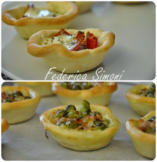 Ricette facili e veloci: Mini tartellette con verdure
