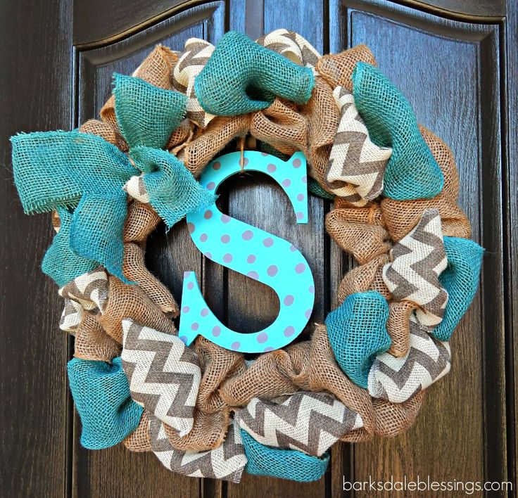 Barksdale blessings diy burlap ribbon wreath pinworthy for Burlap ribbon craft ideas