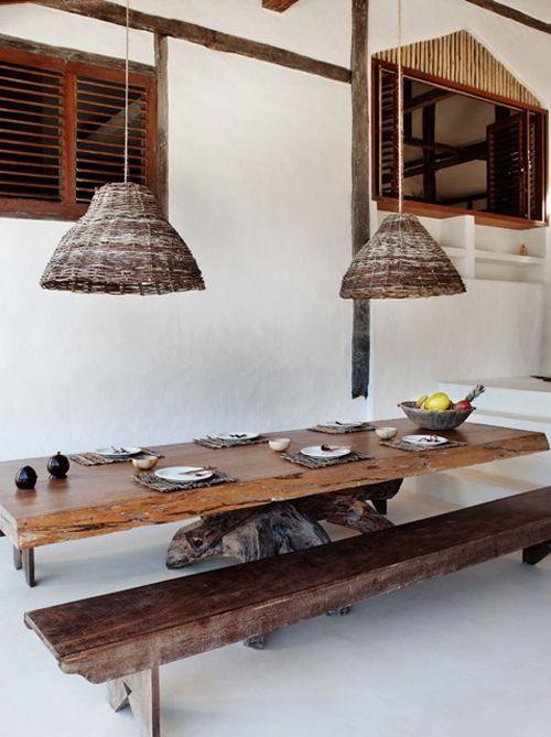 TRANCOSO, BRAZIL - Modern Rustic #interiordesign