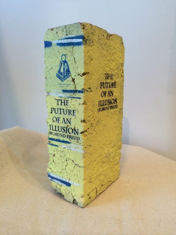 "The Future of an Illusion • 9"" X 4.25"" X 2.5"" • Repurposed Brick"