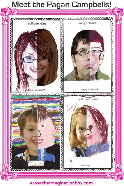 Have fun creating family portraits! Half a photo and some oil pastels is all you need! We might repeat this in a couple of years to see how we've changed ;-)