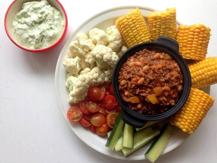 Børnevenlig chili con carne. Den børnevenlige udgave med paprika og spidskommen som ikke er stærk. Spises sammen med grøntsager, majskolber og avocadodip.