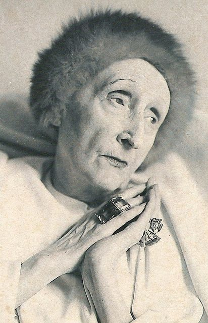 Edith Sitwell by Cecil Beaton - exactly as I remember her.