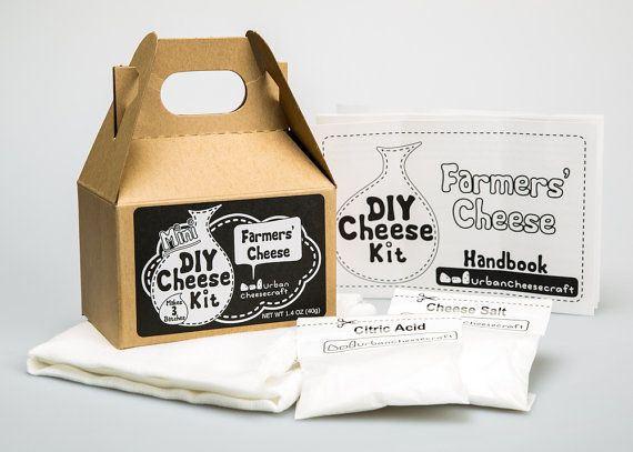 Mini DIY Farmers' Cheese Kit 3 batches On by UrbanCheesecraft