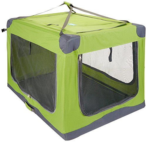 guardian gear nylon pioneer soft dog crate xlarge green click - Soft Dog Crates