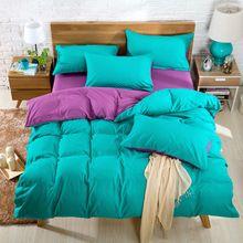 Flor ] 2016 novo consolador cama capa de edredão lençol cor sólida colcha roupa de cama tampa de cama de rei(China (Mainland))