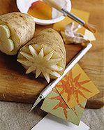 Giochi e lavoretti per bambini: Gli stampini con le patate. Sottocoperta: il portale di Viaggi, Enogastronomia e Creatività
