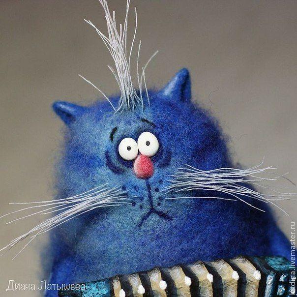 Смешные котики от Дианы Латышевой  #Abbigli #хендмейд #подарки #рукоделие #хобби #креатив #handmade #идея #вдохновение #своимируками