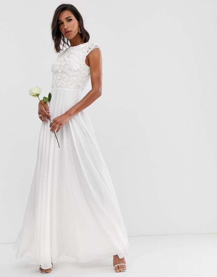 Asos Edition Asos Edition Embellished Bodice Wedding Dress Boho Wedding Dress Lace Affordable Bridal Gowns Maxi Dress Wedding