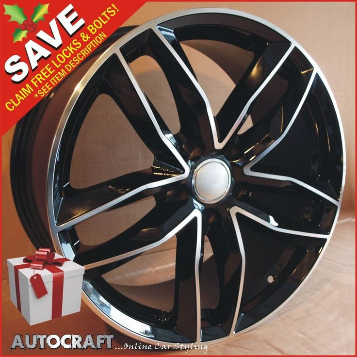 """20"""" RS6 BP STYLE Alloy Wheels + TYRES - VW TRANSPORTER T5 T6 T28 T32 LOAD RATED!  