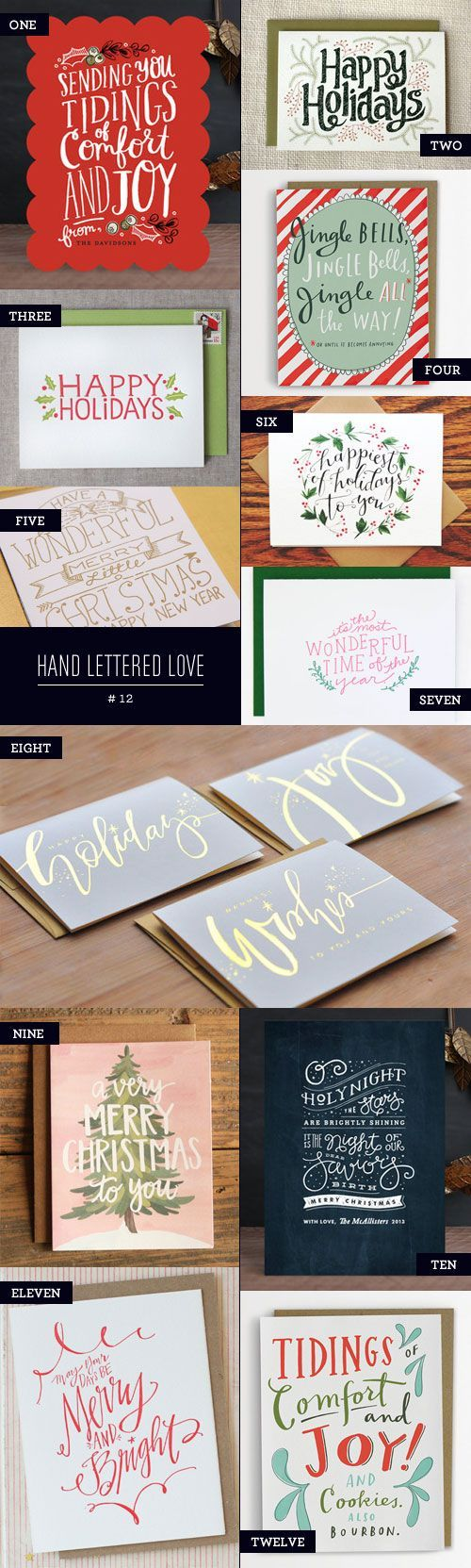 Hand Lettered Love #12, Holiday Card Edition - Paper Crave