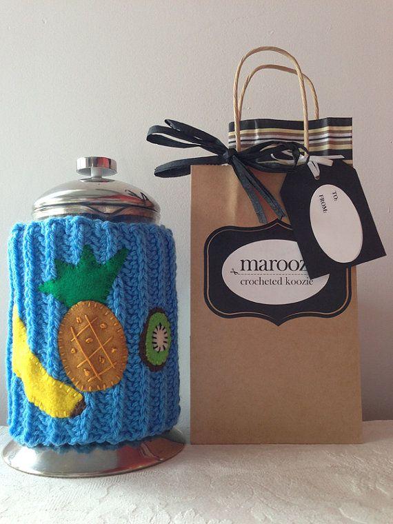 Tropical Fruit Crochet French Press Cozy Banana by Maroozi