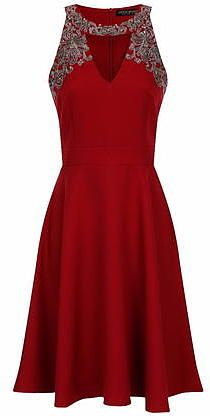 Womens carmine little mistress berry embellished dress- red from Dorothy Perkins - £70 at ClothingByColour.com