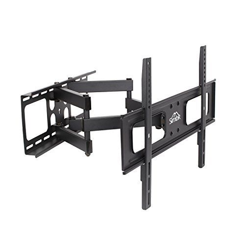 Invision® Ultra Strong TV Wall Bracket Mount - For 37 - 70 Inch LED LCD Plasma & Curved Screens - Double Arm Tilt Swivel Feature - Includes 1080p HDMI Cable & Spirit Level *Please Confirm Your TV VESA Mounting Holes Before Purchase* (HDTV-DXL)
