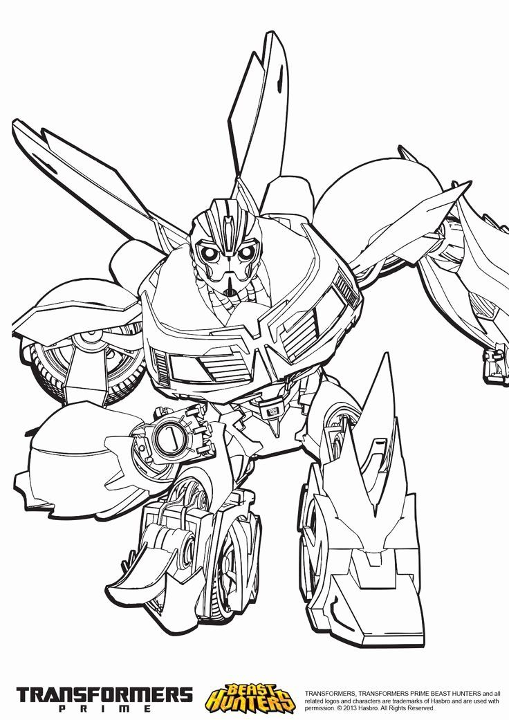 Bumblebee Transformer Coloring Page Elegant Transformers Prime Beast Hunters Coloring Pages Google Elsa Coloring Pages Bee Coloring Pages Bumblebee Drawing