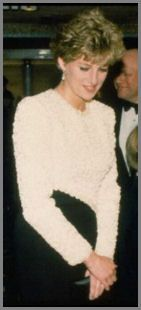 Diana wore this dress to the premiere of the film 'Hook', and on the royal visit to Pakistan in 1992.