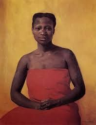 Seated Black Woman, Front View Painting by Felix Edouard Vallotton Reproduction Lausanne, Female Portrait, Female Art, Sardonic Humor, Most Famous Paintings, Empire, Moving To Paris, Mirror Painting, Painting People